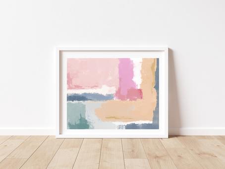 Free Printable Abstract: Hopeful Surrender