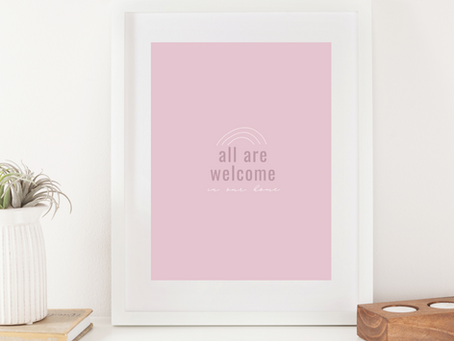 All Are Welcome Art Print