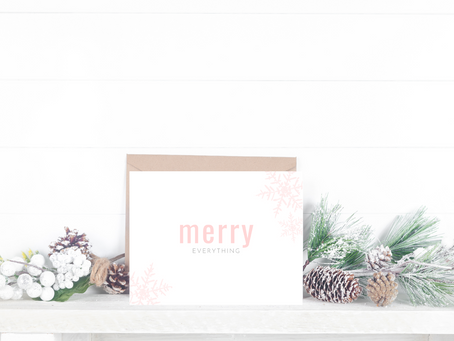 Free Printable Christmas Card: Merry Everything
