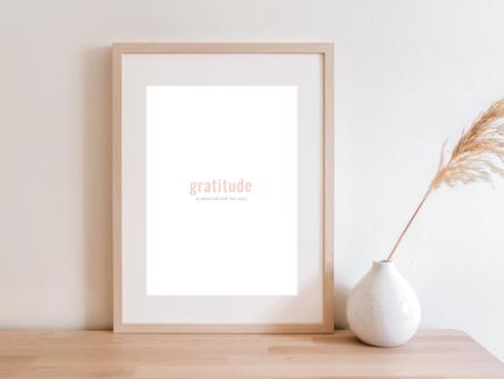 Gratitude Quote Art Print