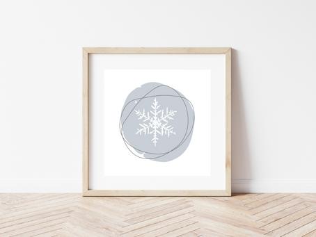 Printable Snowflake Art Prints