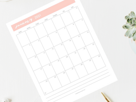 Free Printable 2021 Monthly Calendar
