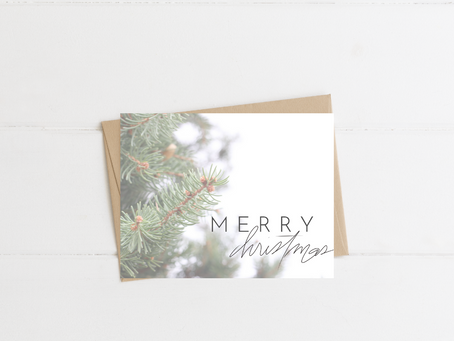 Time to Start Thinking About Christmas and a Free Printable Christmas Card