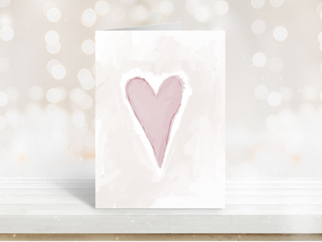 Free Printable Abstract Heart Greeting Card