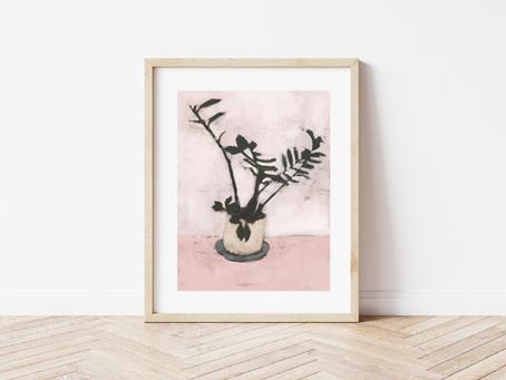 Free Printable Abstract Botanical Art Print
