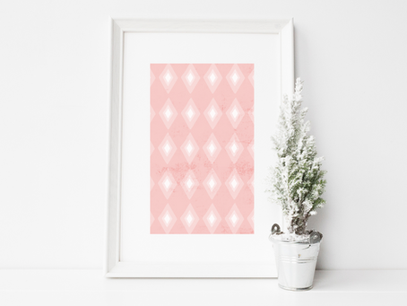 Using Patterned Paper as Christmas Wall Art
