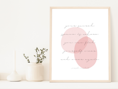 Free Printable Inspirational Message Art Print