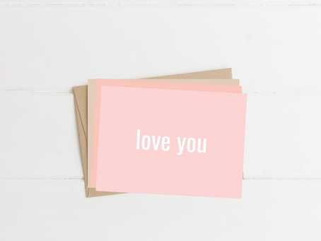 "Free Printable Minimalist Style ""Love You"" Greeting Cards"