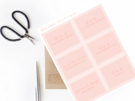 Printable Inspo Cards: Daily Words of Inspiration