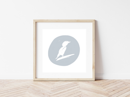 Free Printable Bird Sketch Art Print