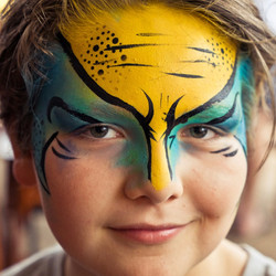 Superhero face paint Gold Coast