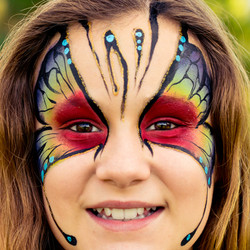 Butterfly Face Paint Gold Coast