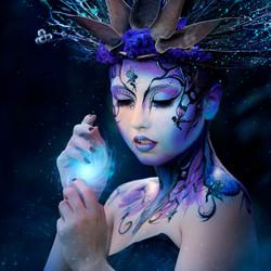 Dark Fairy Face Paint Gold Coast
