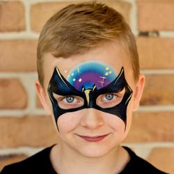 Batman Face Paint Gold Coast