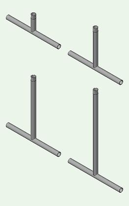 Downriggers 25 - 50 - 75 - 100 cm