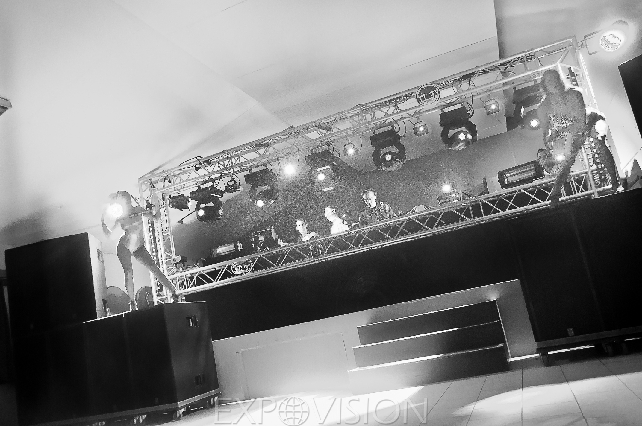 Dj setup & Gogo dancers