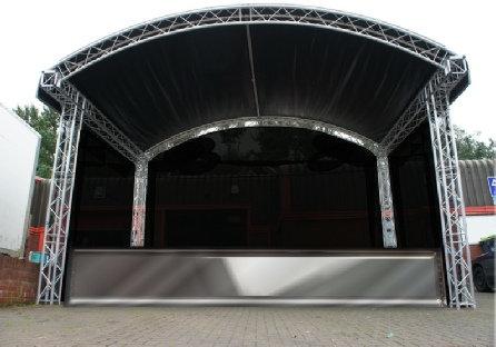 Arc Stage roof + podium - 6,7 x 4,7  meter PROMO