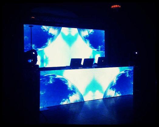 LED DJ Booth 3 x 2,5 + Arkaos VJ soft