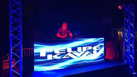 LED DJ Booth 3 x 1m + Arkaos VJ soft