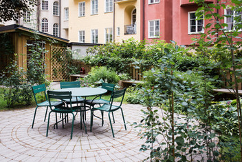 Planering av innergård