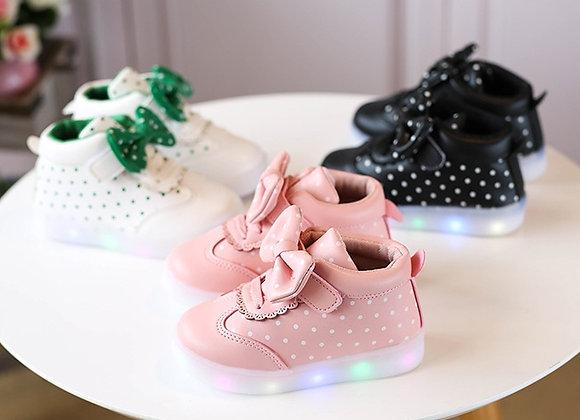 Meiteņu LED kedas Bow