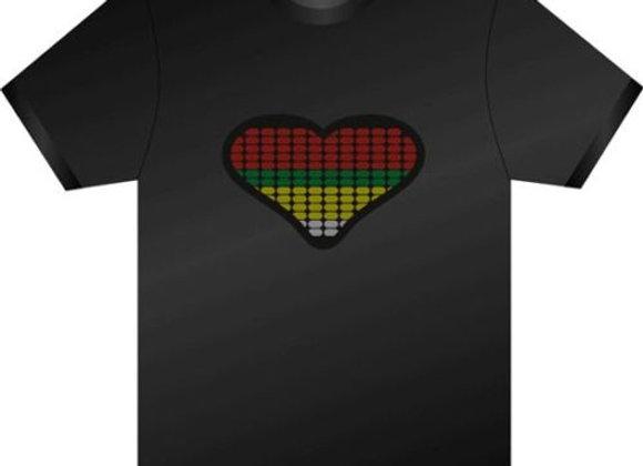 LED T-krekls Heartbeat [ID 502]
