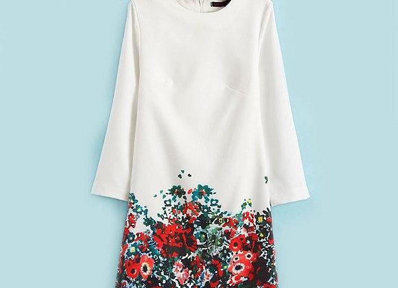 Krāsaina kleita ar ziedu printu [ID 460]