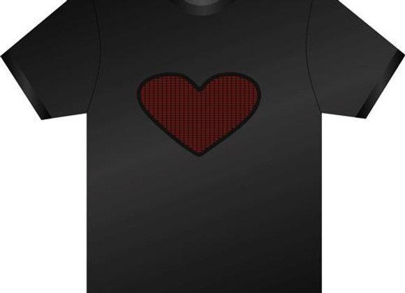 LED T-krekls Heart [ID 502]
