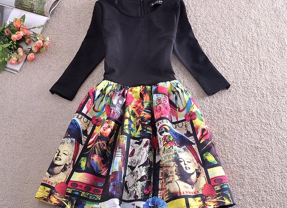Krāsaina kleita ar foto druku [ID 214]