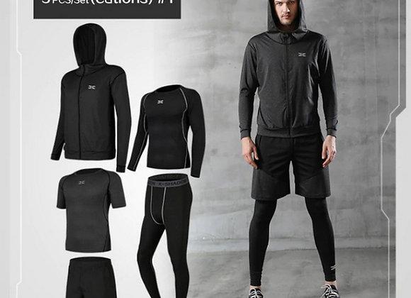 Vīriešu sporta tērpa komplekts 5in1 XFitness