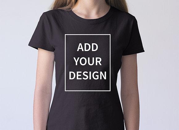 Sieviešu T-krekla apdruka (izveido savu dizainu)