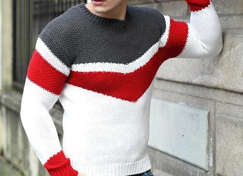 Vīriešu adīts džemperis Wool 2 [ID 600]
