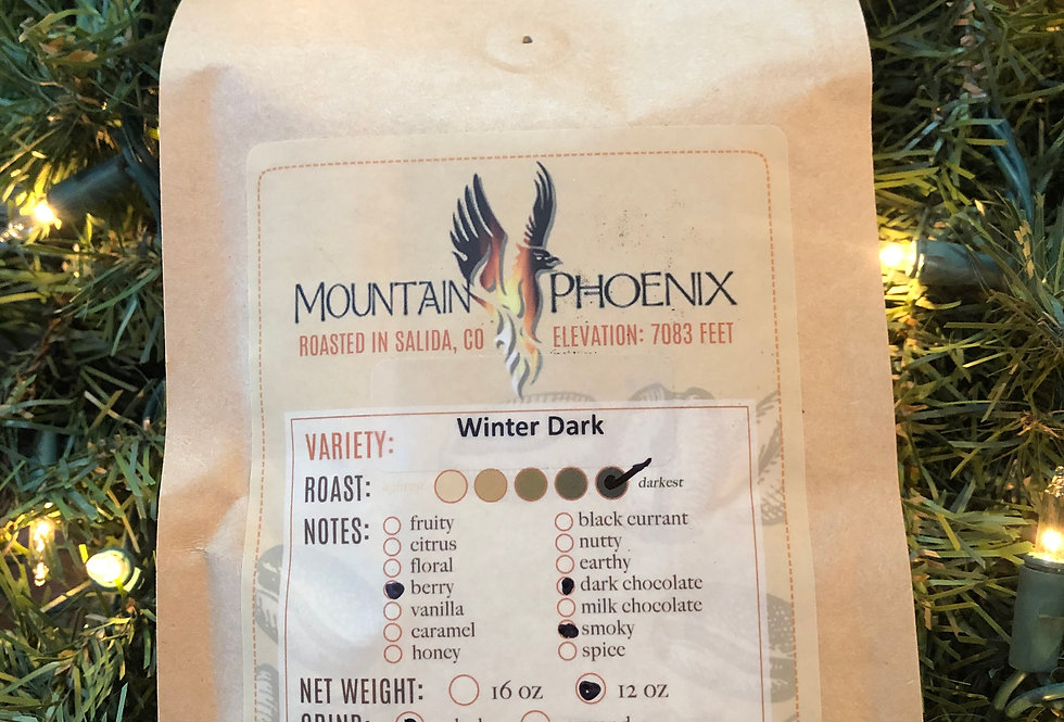 Winter Dark Blend Coffee (indicate Whole Bean or Ground Coffee in text box)