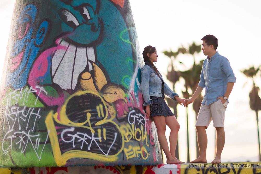 Venice Beach Graffiti Engagement