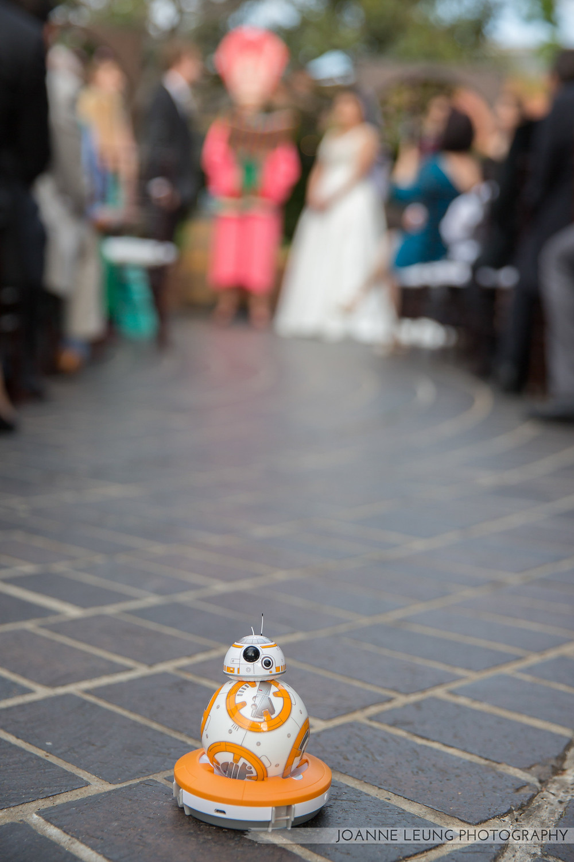 BB8 watching the wedding ceremony