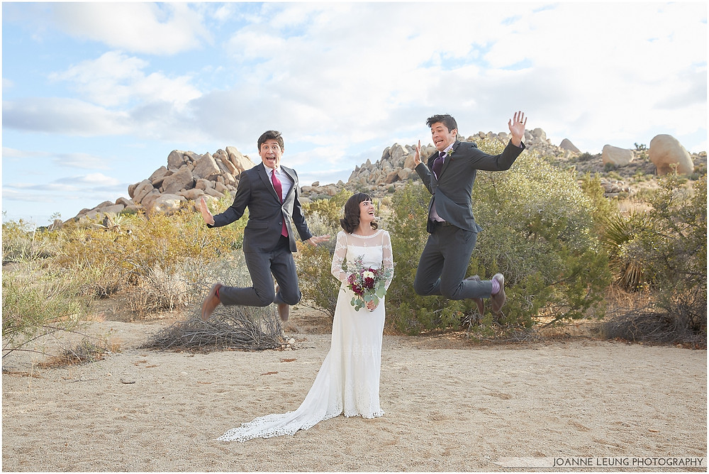 twins wedding Joshua Tree Live Oak Wedding untraditional ceremony