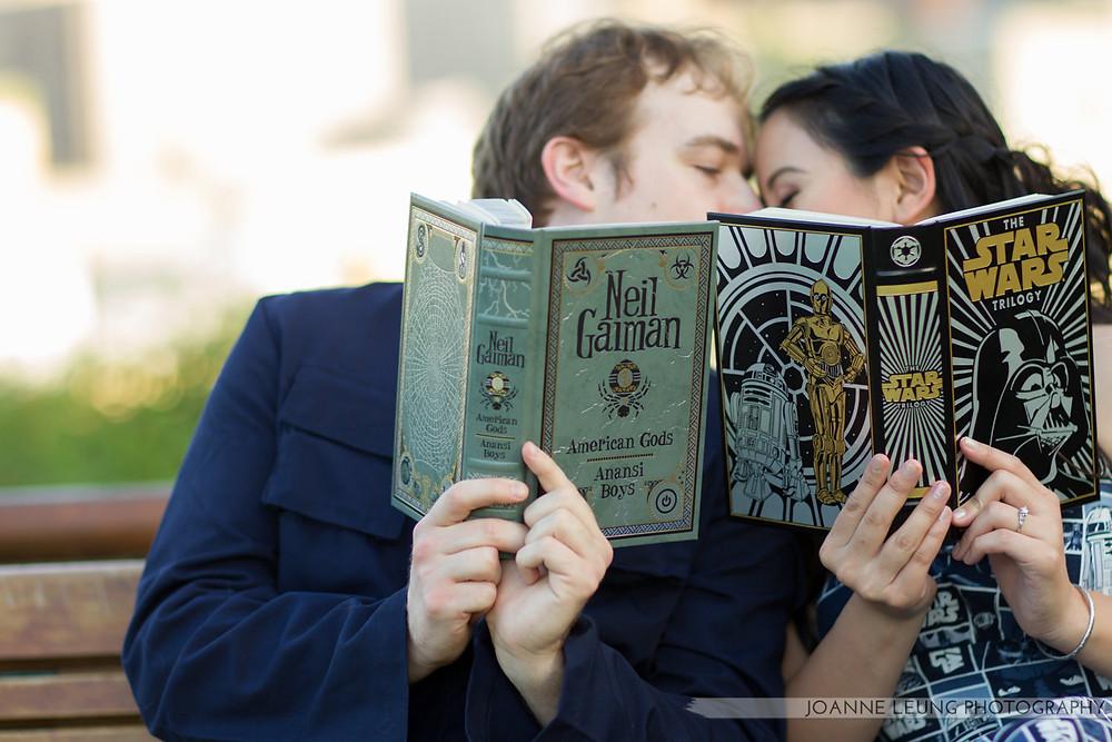 Star Wars Book Engagement Kiss