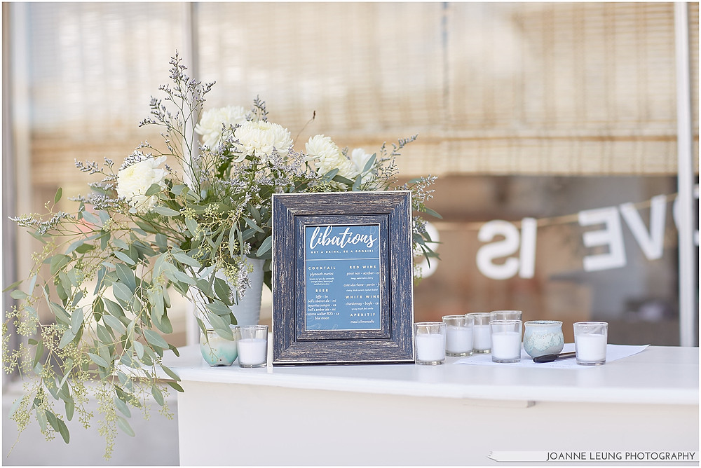 Joshua Tree Live Oak Wedding calligraphy radlovestories bar decoration