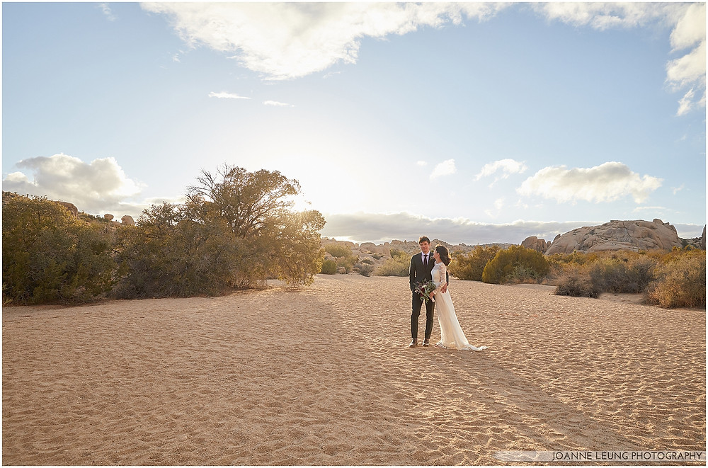 Joshua Tree Live Oak Wedding untraditional ceremony Amazing moody lighting
