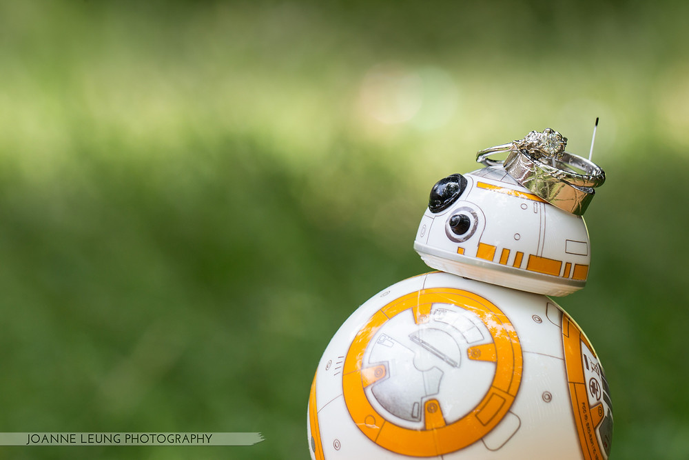 BB8 with Wedding Rings