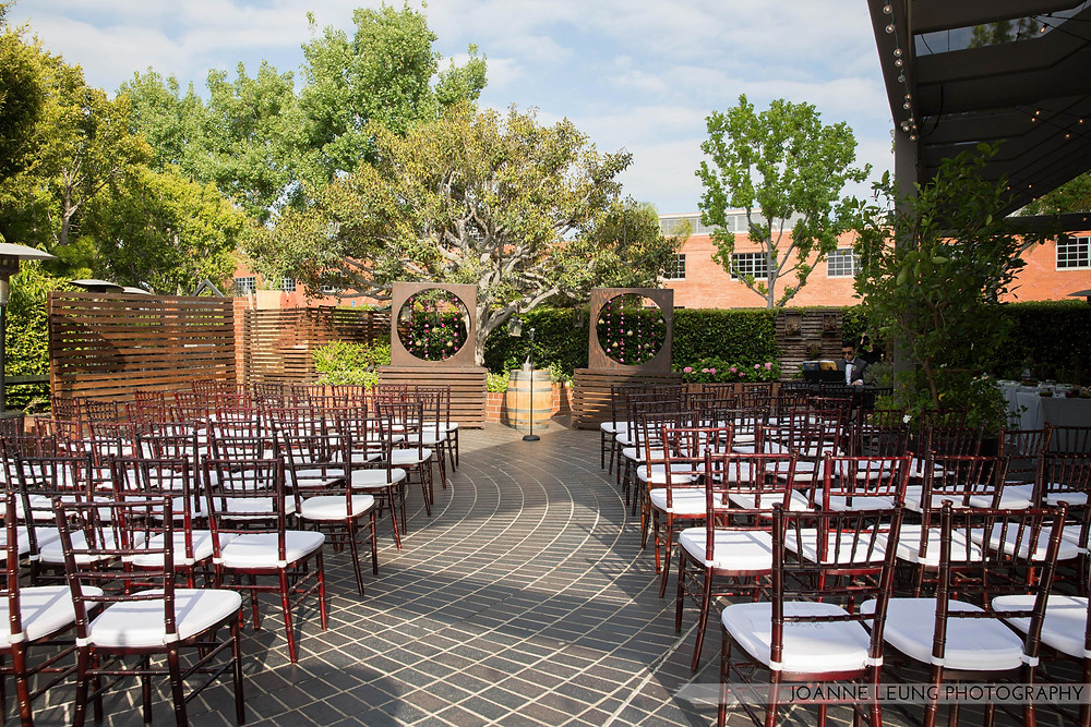 Tiato Santa Monica Wedding Ceremony Setup