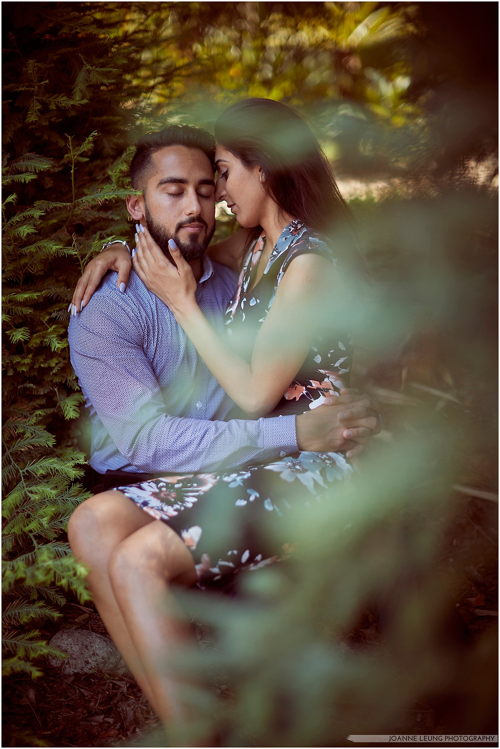 tender moment intimate forest proposal dark and moody
