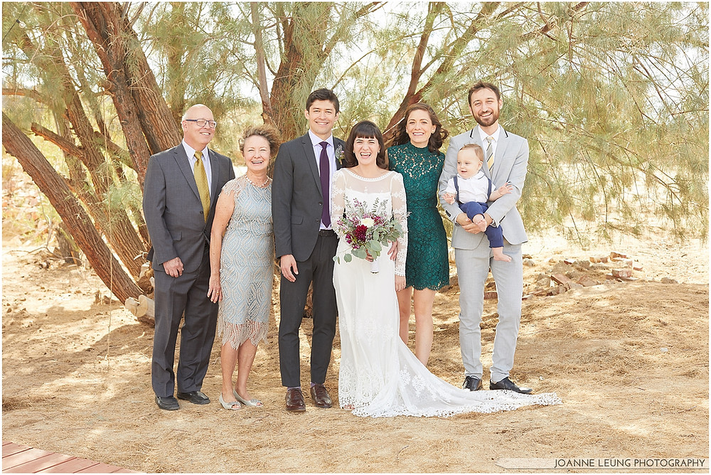 Joshua Tree Live Oak Wedding wedding family portrait