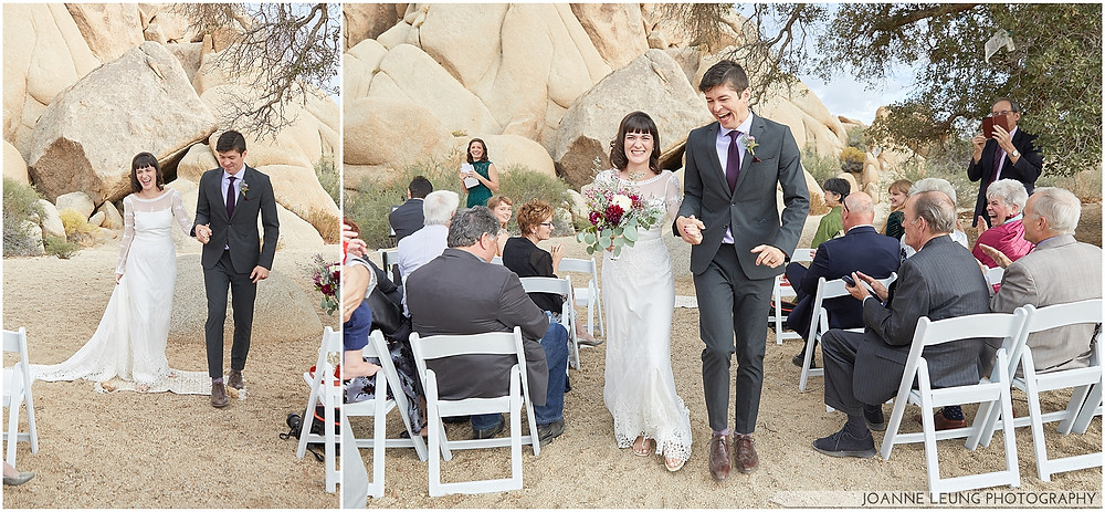 Joshua Tree Live Oak Wedding untraditional ceremony