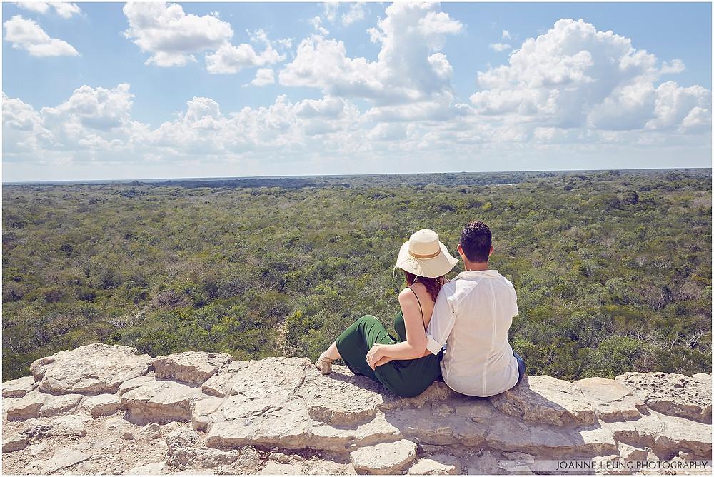 engagement session romantic travel Tulum Mexico