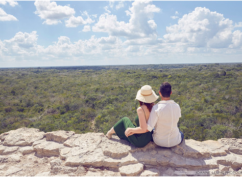 Engagement Session for E + M (Part 1) at Ixmoja pyramid at Coba ruins, Tulum, Mexico