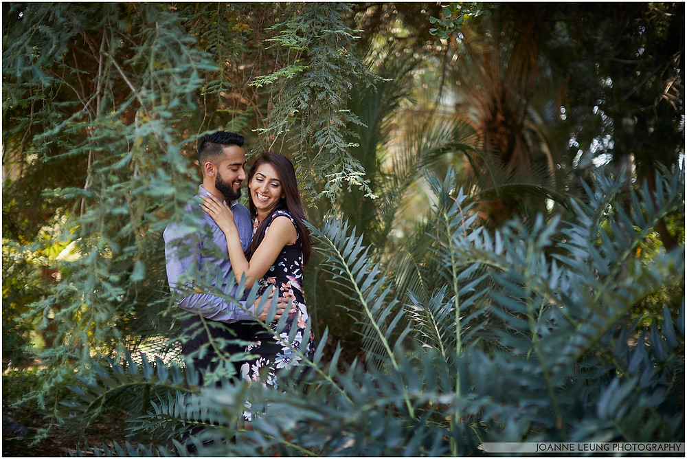 candid proposal in garden dark and moody photography