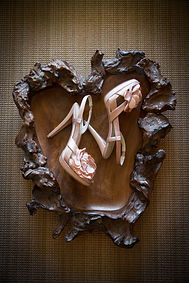 Photo of brides wedding shoes