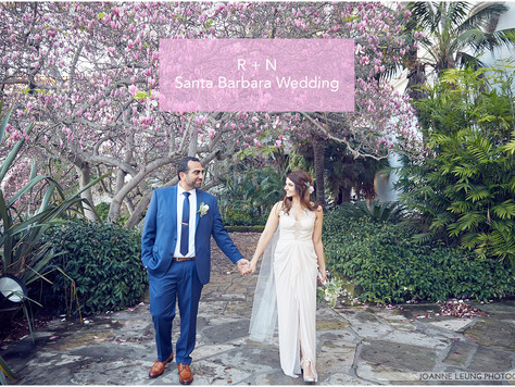 Santa Barbara Courthouse Mural Room Wedding, Belmond El Encanto and Cadiz Wedding | R + N