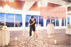 Candle lit Proposal in the Starlight ballroom of Mr. C Beverly Hills with customized string trio per